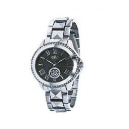 Montre femme,boîte métal, bracelet métal, strass et verre minéral