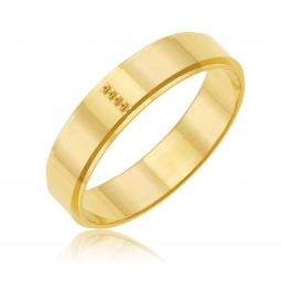 Alliance en or jaune fantaisie, 5 mm