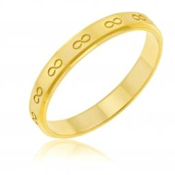 Alliance en or jaune satiné et bords lisses, 3 mm