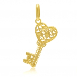 Pendentif en or jaune, clef