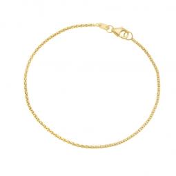 Bracelet maille pop corn en or jaune