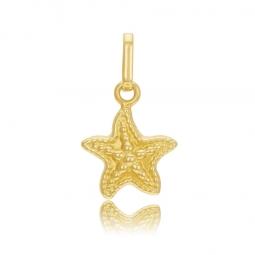 Pendentif en or jaune, étoile de mer
