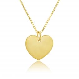 Collier en plaqué or, coeur