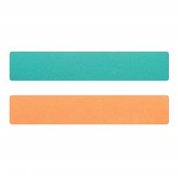 Simili cuir turquoise-pêche pour bracelet jonc Méli Versa 30mm
