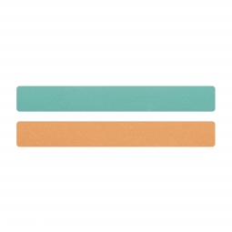 Simili cuir turquoise-pêche pour bracelet jonc Méli Versa 20mm