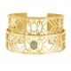 Bracelet jonc Méli Versa en acier doré 20 mm, aventurine - B