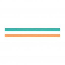 Simili cuir turquoise-pêche pour bracelet jonc Méli Versa 10mm