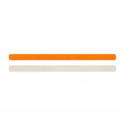Simili cuir orange fluo-blanc cassé pour bracelet jonc Méli Versa 10mm