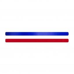 Simili cuir bleu-rouge pour bracelet jonc Méli Versa 10mm