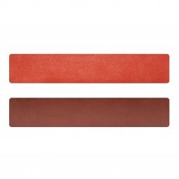 Simili cuir orange-terracotta pour bracelet jonc Méli Versa 30mm