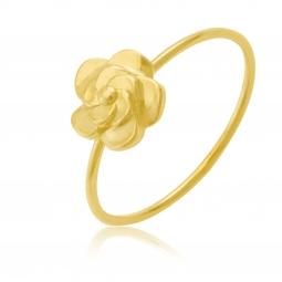 Bague en or jaune, fleur