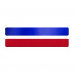 Simili cuir bleu-rouge pour bracelet jonc Méli Versa 20mm
