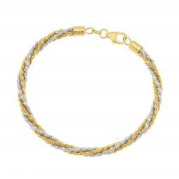Bracelet en 2 ors