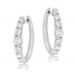 Créoles en or gris et diamants