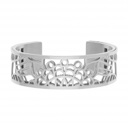 Bracelet jonc Méli Versa en acier, 20mm , Mandala