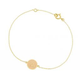 Bracelet en or jaune et laque, lotus