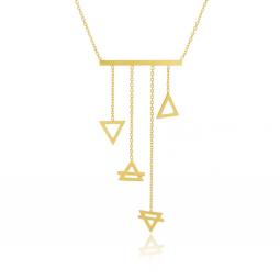Collier en or jaune, quatre éléments