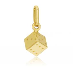 Pendentif en or jaune, dé