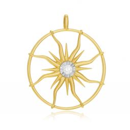 Pendentif en or jaune et rhodié, diamant